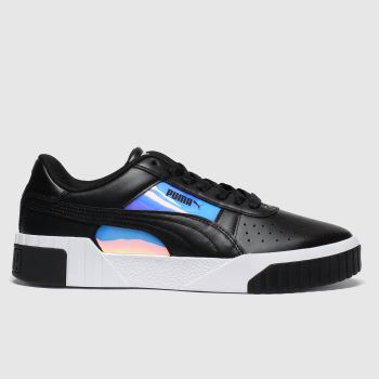 Puma Black & White Cali Glow Womens Trainers