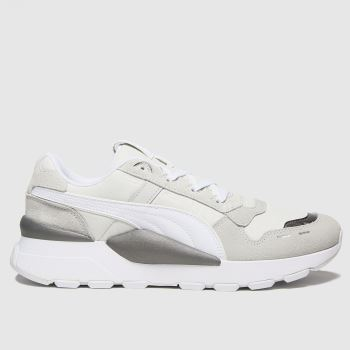 PUMA White & grey Rs 2.0 Mono Metal Womens Trainers