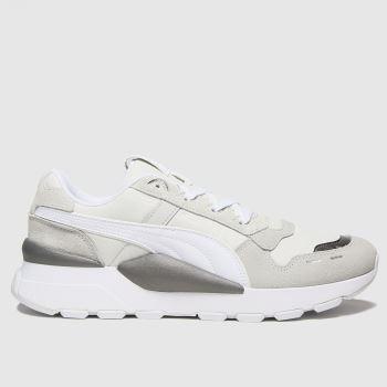 PUMA Weiß-Grau Rs 2.0 Mono Metal Damen Sneaker