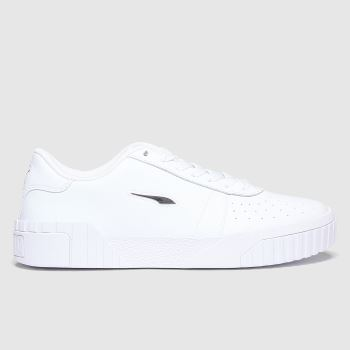 PUMA White Cali Twist Womens Trainers