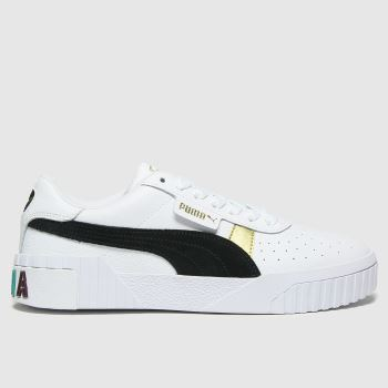 PUMA White & Black Cali Varsity Womens Trainers#