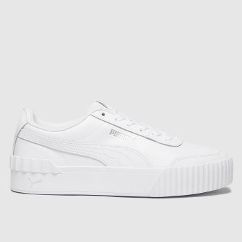 PUMA White Carina Lift Womens Trainers#