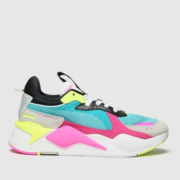 PUMA White & Pink Rs-x Reinvent Womens Trainers