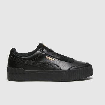 PUMA Black Carina Lift Trainers