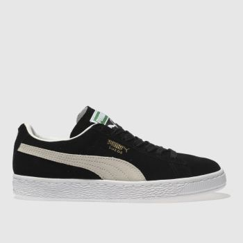 Puma Black   White Suede Classic Womens Trainers cd1b8e423