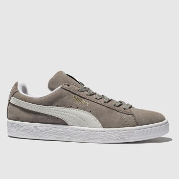 PUMA Grey Suede Classic Womens Trainers