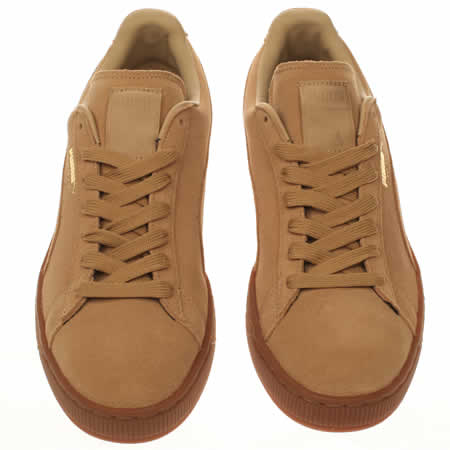 new style 2a4aa 34cbd Puma Beige Suede Gum Trainers wearpointwindfarm.co.uk
