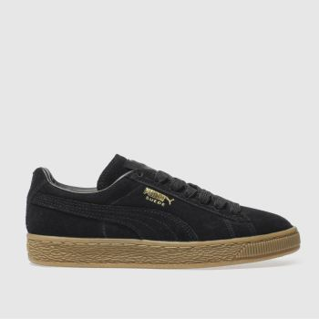 PUMA Black Suede Gum Womens Trainers#