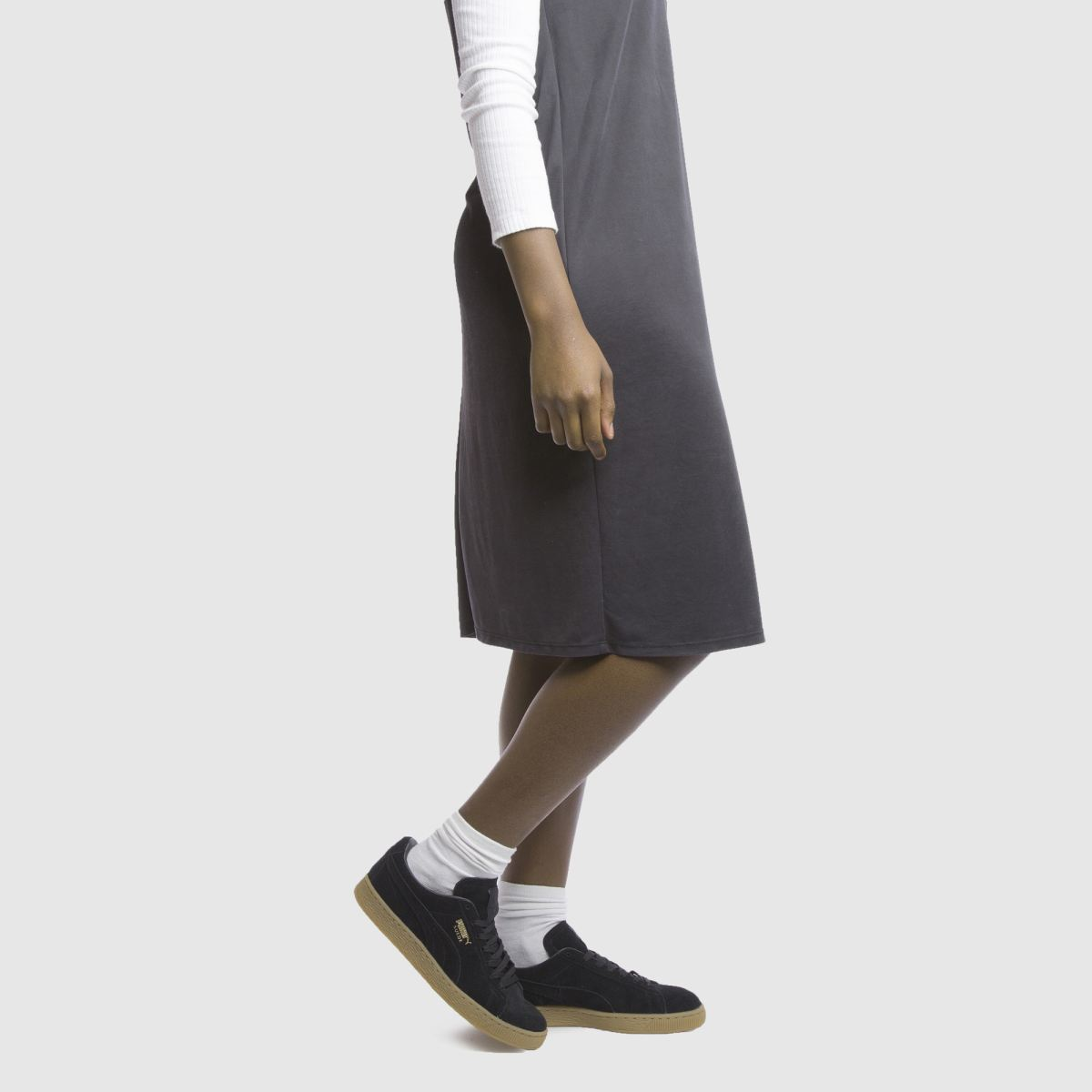 Damen Schwarz puma Suede Gum Sneaker | schuh Gute Qualität beliebte Schuhe