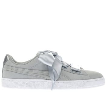 PUMA LIGHT GREY BASKET HEART MET SAFARI TRAINERS
