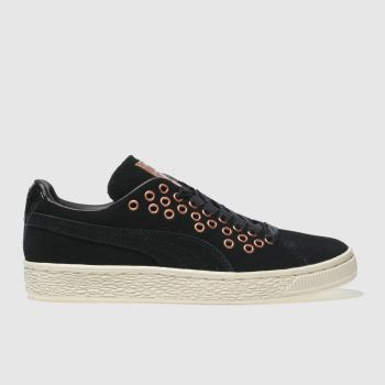 Puma Black & Gold SUEDE XL LACE VR Trainers