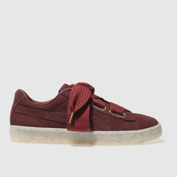 Puma Red Suede Heart Celebrate Womens Trainers