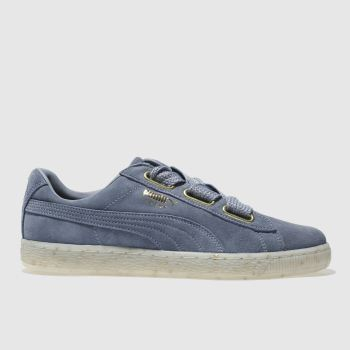 Puma Blue Suede Heart Celebrate Womens Trainers