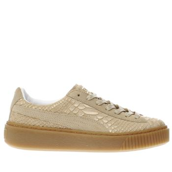 Puma Natural Platform Exotic Skin Womens Trainers