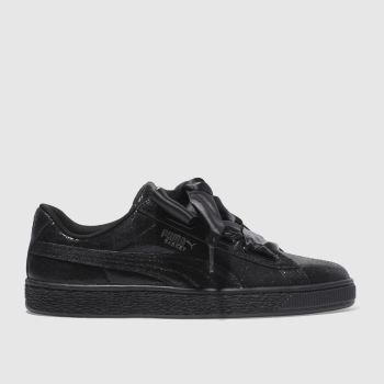 PUMA BLACK BASKET HEART OPULENCE TRAINERS