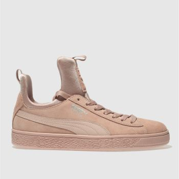 Puma Pale Pink SUEDE FIERCE Trainers