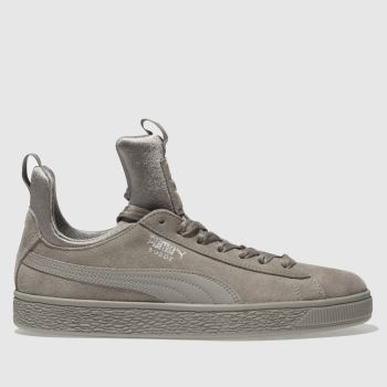 Puma Grey Suede Fierce Womens Trainers