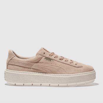 Puma Pink Trace Suede Platform Womens Trainers