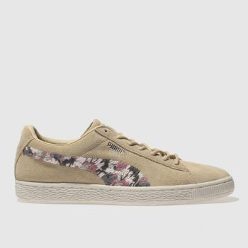 Puma Natural Suede Sunfade Stitch Womens Trainers