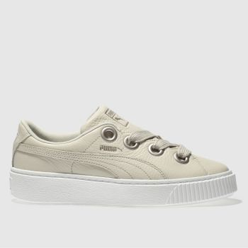DAMEN PUMA NATURFARBEN PLATFORM KISS LEATHER SNEAKER