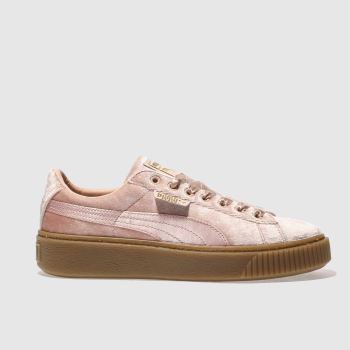 Puma Pink Basket Platform Vs Womens Trainers