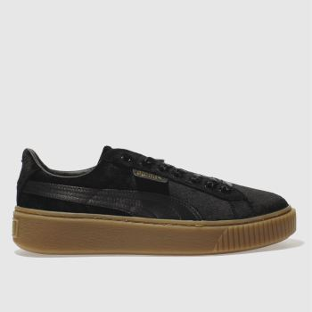 Puma Black Basket Platform Vs Womens Trainers