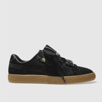 Puma Black BASKET HEART Trainers