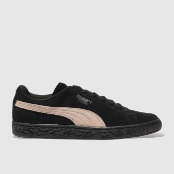 Puma Black & pink Suede Classic Womens Trainers