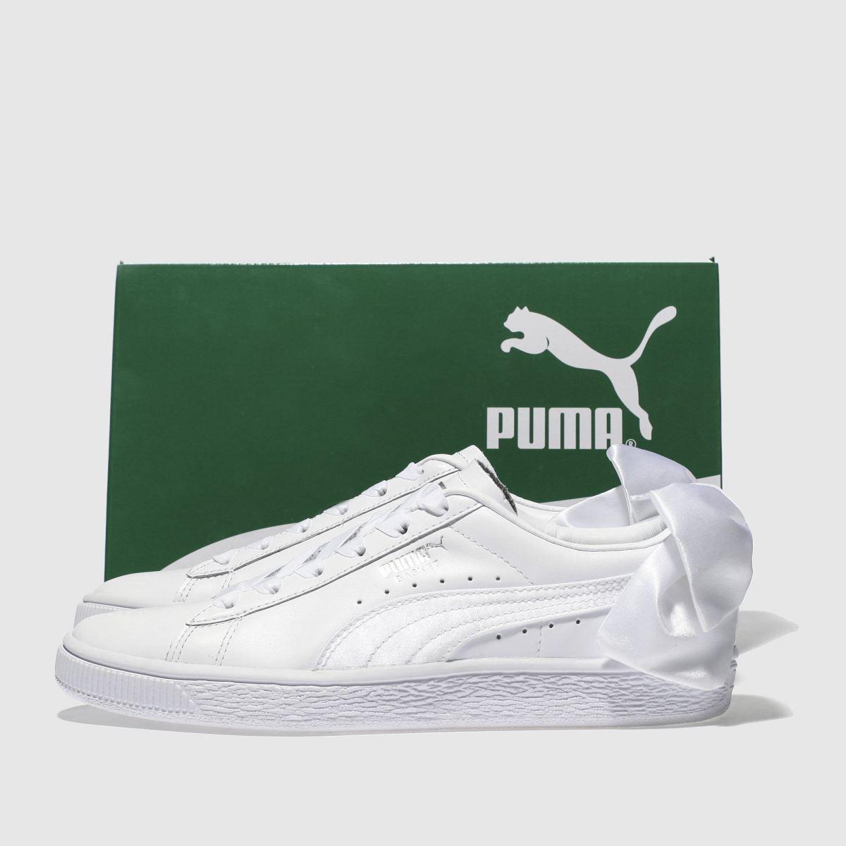 Damen schuh Weiß puma Basket Bow Sneaker   schuh Damen Gute Qualität beliebte Schuhe 24fc3c