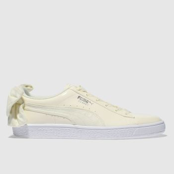 Puma Cream Basket Bow Sb Womens Trainers