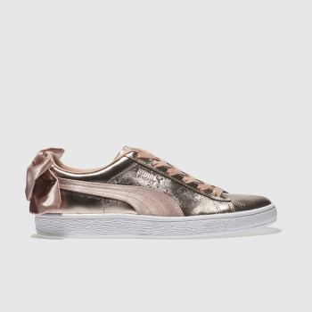 PUMA GOLD BASKET BOW LUXE TRAINERS