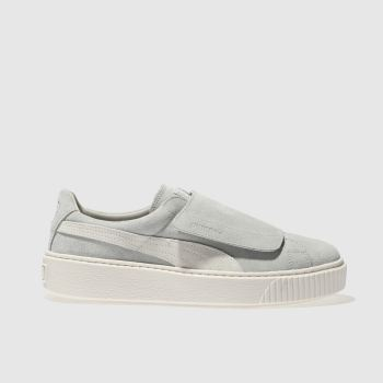 Puma Grey Platform Strap Womens Trainers
