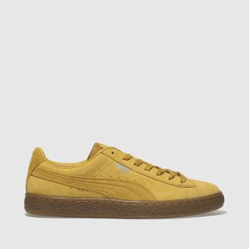 Puma Yellow Basket Classic Weatherprf Womens Trainers