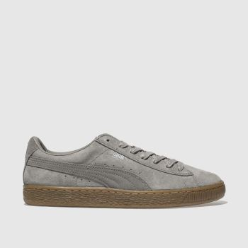 Puma Grey Basket Classic Weatherprf Womens Trainers