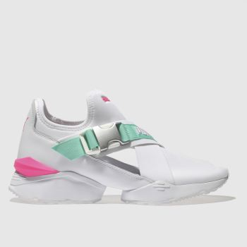 Puma White & Pink Muse Eso Womens Trainers