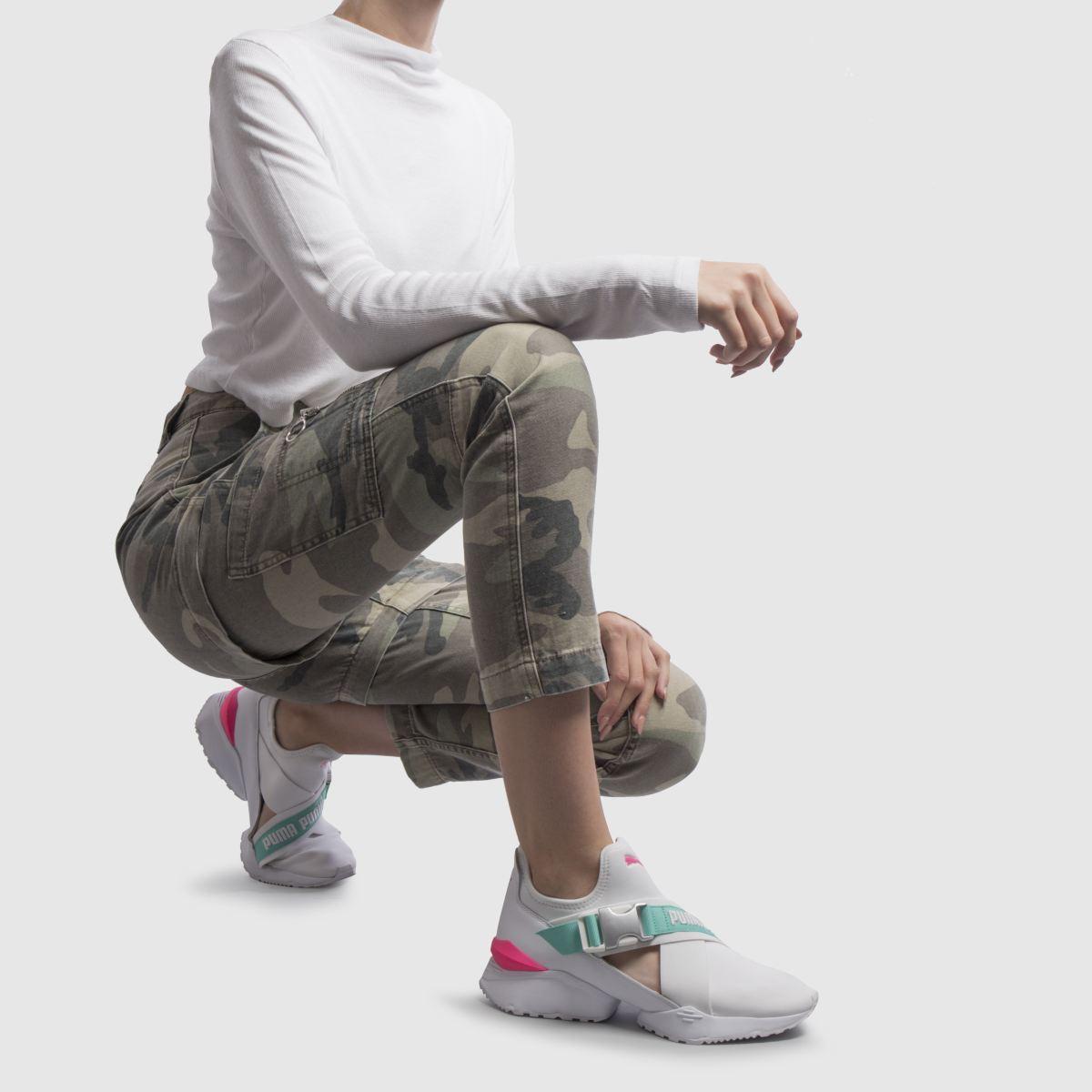 Damen Weiß-pink Gute puma Muse Eso Sneaker | schuh Gute Weiß-pink Qualität beliebte Schuhe e65dc7