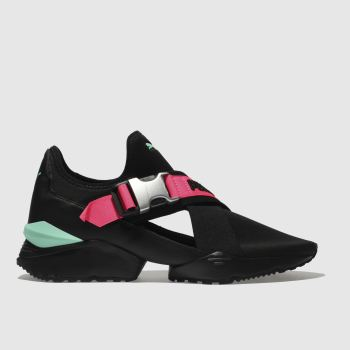 Puma Black & pink Muse Eso Womens Trainers