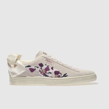 Puma Stone Suede Bow Flowery Womens Trainers