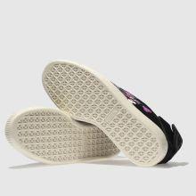 womens black   purple puma suede bow flowery trainers  e91146662