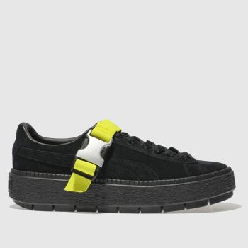 Puma Black Platform Trace Buckle Womens Trainers