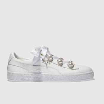 307afd364f51 womens white puma basket bling trainers