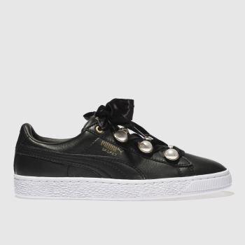 Puma Black Basket Bling Womens Trainers
