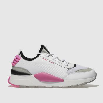 Puma White & Pink RS-0 SOUND Trainers