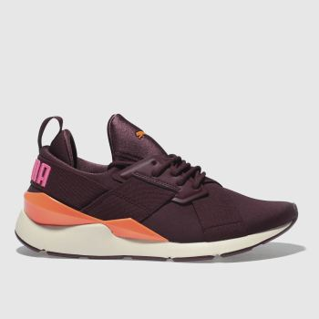 Puma Burgundy Muse Chase Womens Trainers
