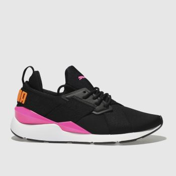 Puma Black & pink Muse Chase Womens Trainers from Schuh