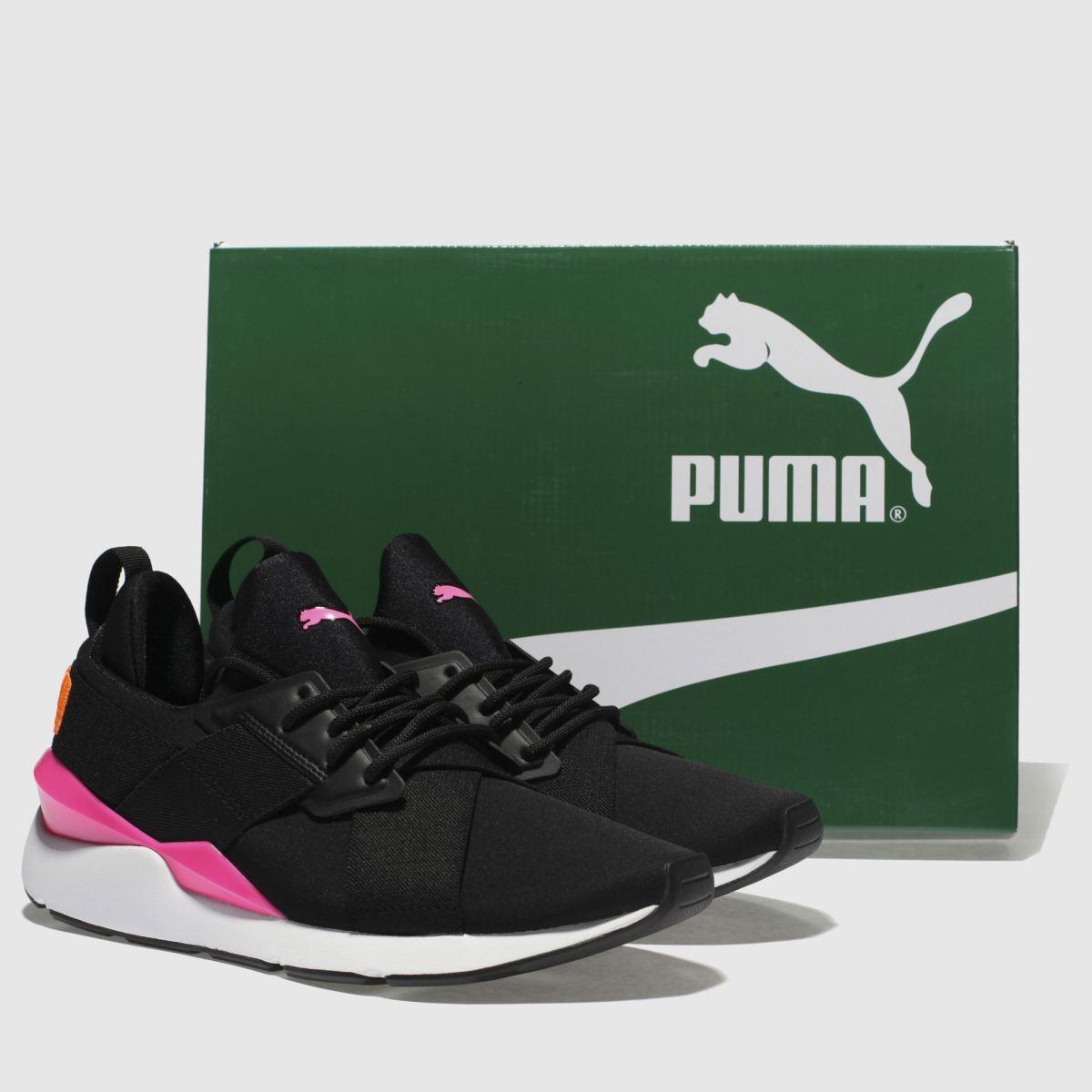 Damen Schwarz-pink puma Muse Gute Chase Sneaker | schuh Gute Muse Qualität beliebte Schuhe e45028