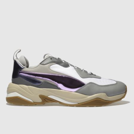 6f4d115ed6be57 womens white   pink puma thunder electric trainers