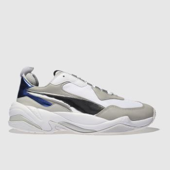 PUMA WHITE & BLUE THUNDER ELECTRIC TRAINERS