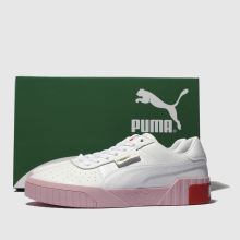 146bf681f womens white & pink puma cali leather trainers | schuh