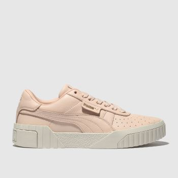 Puma Pale Pink Cali Leather Womens Trainers